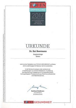 Implantologie Dr. Beermann 2017