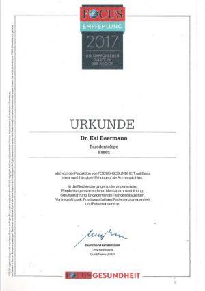 Parodontologie Dr. Beermann 2017