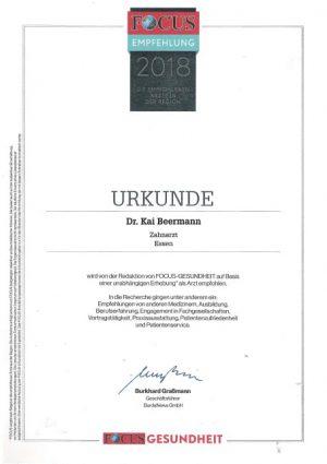 Zahnarzt 2018 Dr. Beermann